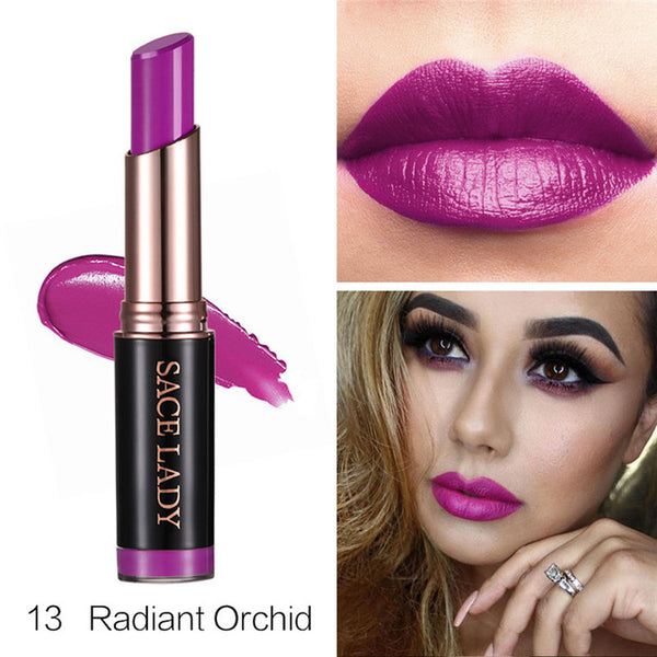 SACE LADY 24 Colors Moisturizer Lipstick Long Lasting Smooth Makeup Sexy Lip Stick Pigment Nude Make Up Brand Wholesale Cosmetic