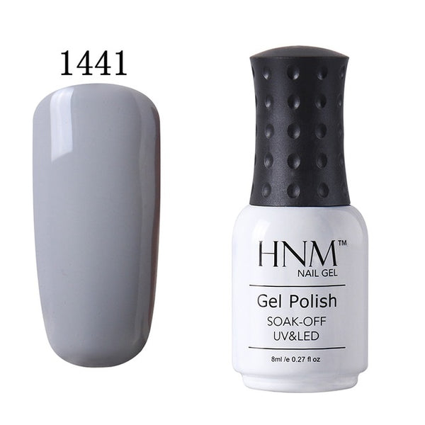 HNM 8ML Pure 28 Colors UV Gel Nail Polish Soak Off Lucky Lacquer Primer Stamping Hybrid Varnish Nail Gel Enamel Painting Gellak