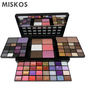 MISKOS Makeup Set 74 Color Makeup Kits For Women Combination Kit Cosmetic Eyeshadow Lipstick Glitter Makup Maquiagem Makyaj Seti