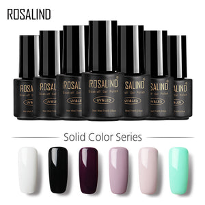 ROSALIND Gel 1 HOT SALE 29 COLORS 7ML Gel Nail Polish Nail Art UV LED Gel Lacquer For Nail Extension Design Top Gel Varnishes