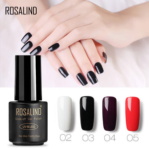 ROSALIND Gel 1 New Arrivals 7ML 31-58 Pure Colors Gel Nail Polish Fresh UV LED Soak-off Gel Nail Varnishes Long-lasting Gel Lak
