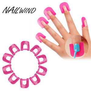 NAILWIND Fashion Gril Top Quality Nail Art 26pcs/Set for Manicure Nail Polish Glue Model Spill Proof Manicure Protector Tools