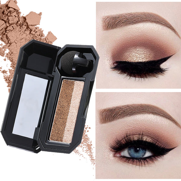 Professional UBUB Brand Eye Color Cosmetics Waterproof Pigment Double Color Shimmer Nude Eyeshadow Makeup Palette