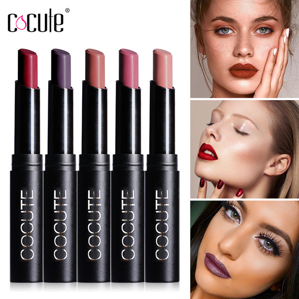 Cocute 15 Colors Lip Stick Moisturizer Lipsticks Waterproof Long-lasting Easy to Wear Cosmetic Nude Makeup Lips