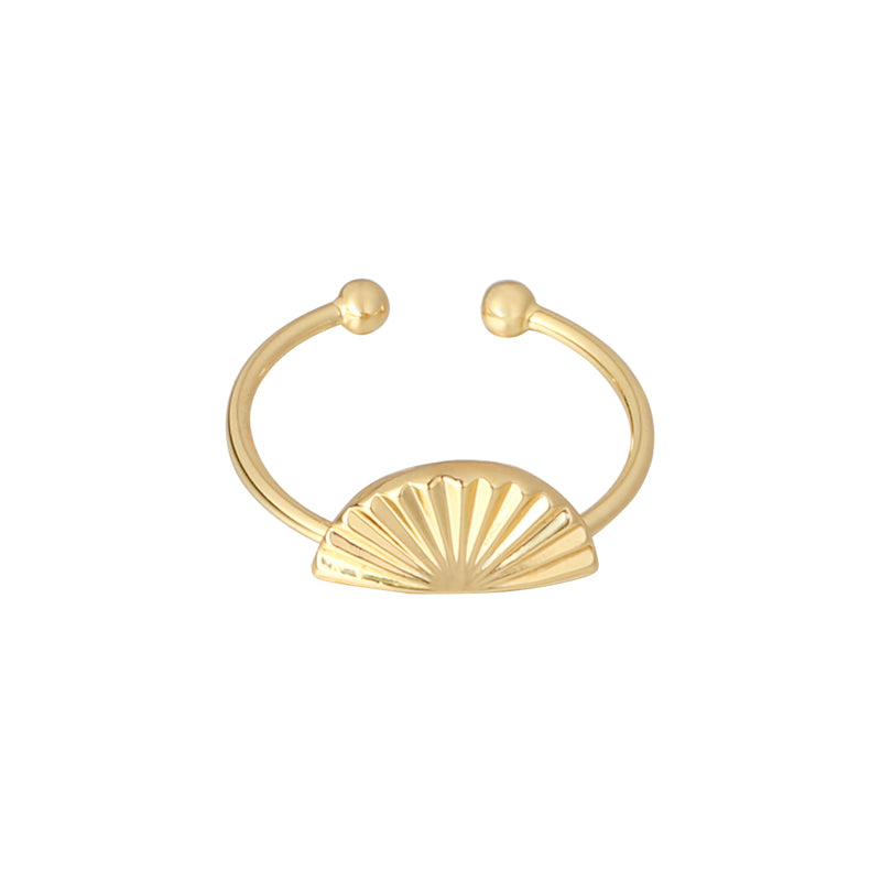 Shell screen ring - Guld - Onesize