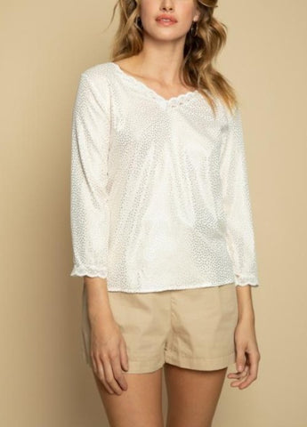Little gold detail - Bluse - Miss Rathje