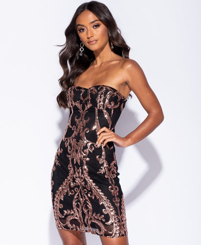 Baroque Sequin Bodycon - Kjole