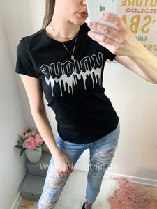 VOUGE - Unique tee - Sort Str.34-40