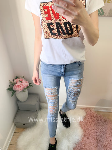 Miss ripped skinny jeans  7/8 - Blue Str.36