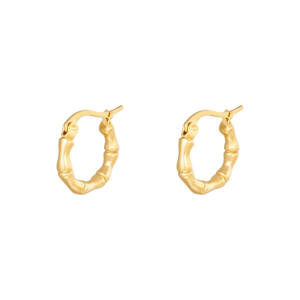 Bamboo hoops 15mm - Guldfarvet