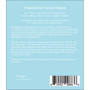 Paulownia 5-in-1 Facial Cleansing Wipes