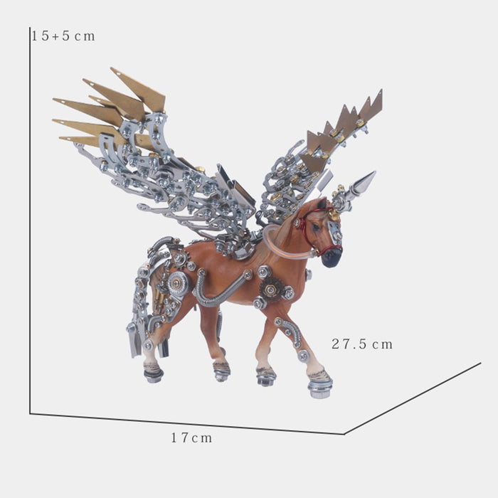 752Pcs DIY 3D Assembly Metal Mechanical Wing Unicorn Angle Model Kit Toy