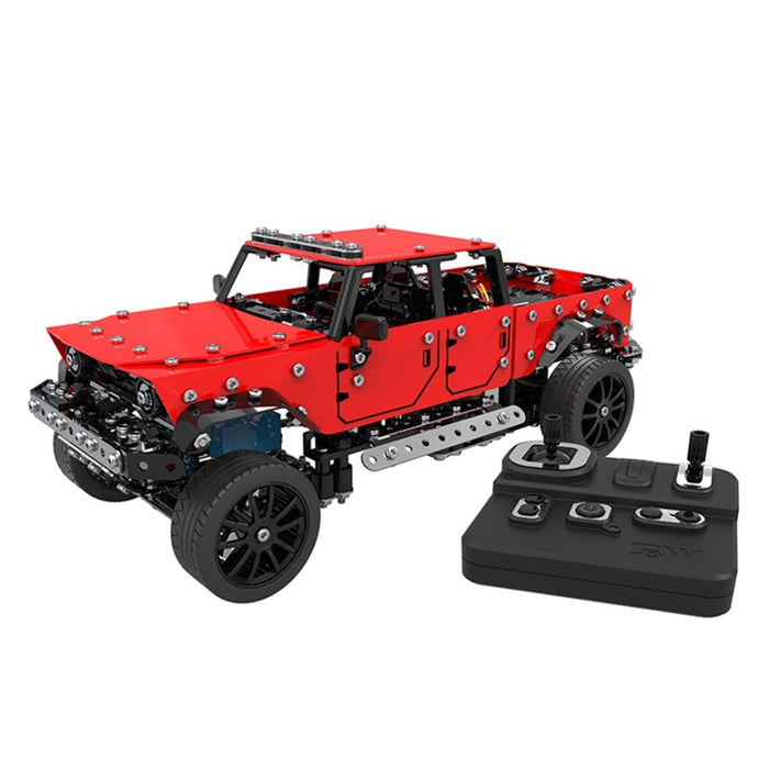 817Pcs 1:16 2.4G 6CH Metal RC Pickup Off-road Truck Vehicle Puzzle Toy