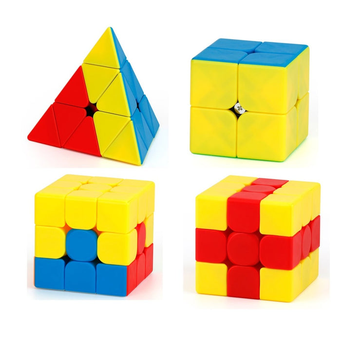 MOYU 4PCS MFJS 2x2 3x3 Teaching Puzzle Series Magic Cube Volcano Pyraminx