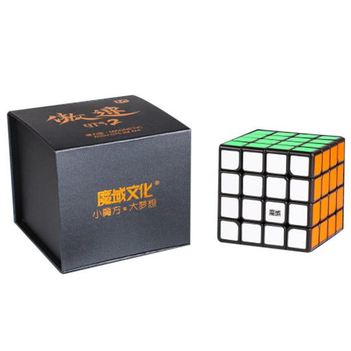 Yj8267 Moyu Aosu Gts2 M 4X4 Magic Cube - Magnetic Version Black