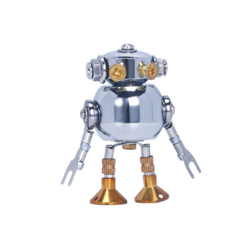 1 Piece Blind Box DIY Mini 3d Metal White Collar Mecha Model Office Series Building Kit