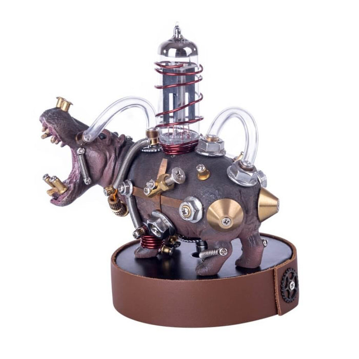 105Pcs  3D Assembly Metal Mechanical Variant Beast Hippo Puzzle Model