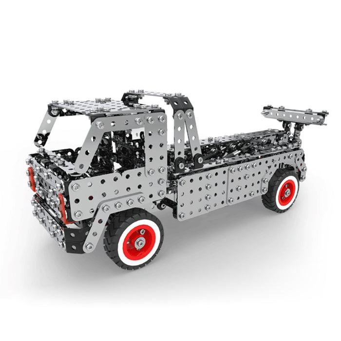 1067Pcs Adults 3D Metal Construction Dump Truck Trailer Assembly Model Kit