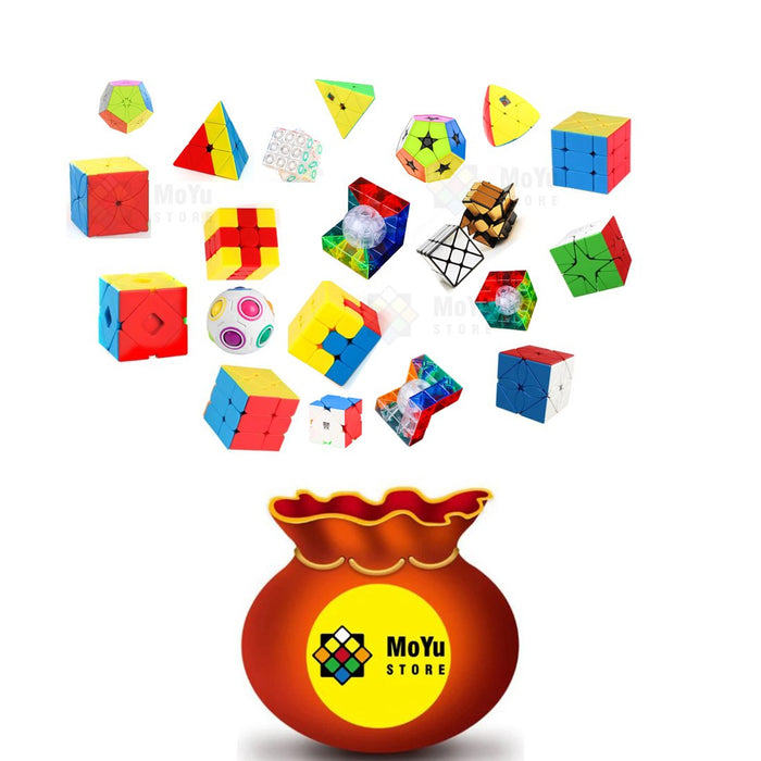 10PCS Moyu Radom Irregular Cubes Blind Box Lucky Bags Set