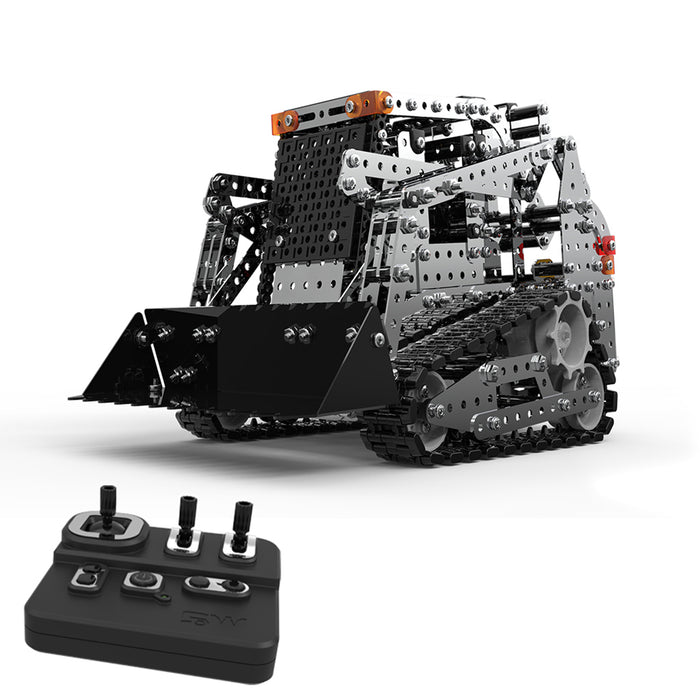 1178Pcs DIY Assembly 2.4G 10CH RC Tracked Forklift Vehicle Car Puzzle Model