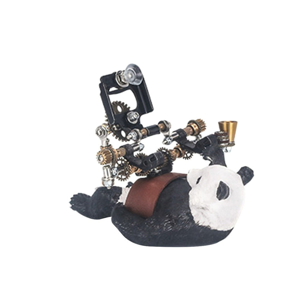 129Pcs DIY Assembling 3D Metal Panda Model Kit Phone Holder