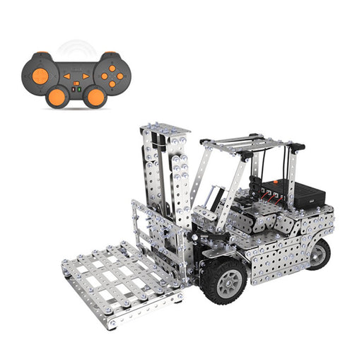 1400Pcs 2.4G Assembly Remote Control Metal Forklift Mechanical Scew Model Building Kit Puzzle