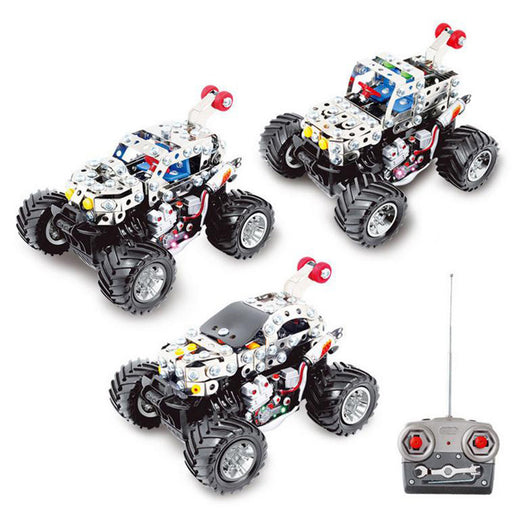 170Pcs+ DIY Metal Remote Control Dancing Car Puzzle Model Kit