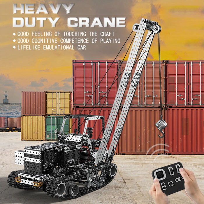 1745Pcs Assembly Vehicle Metal RC Crane Car Puzzle Model 2.4G 10CH