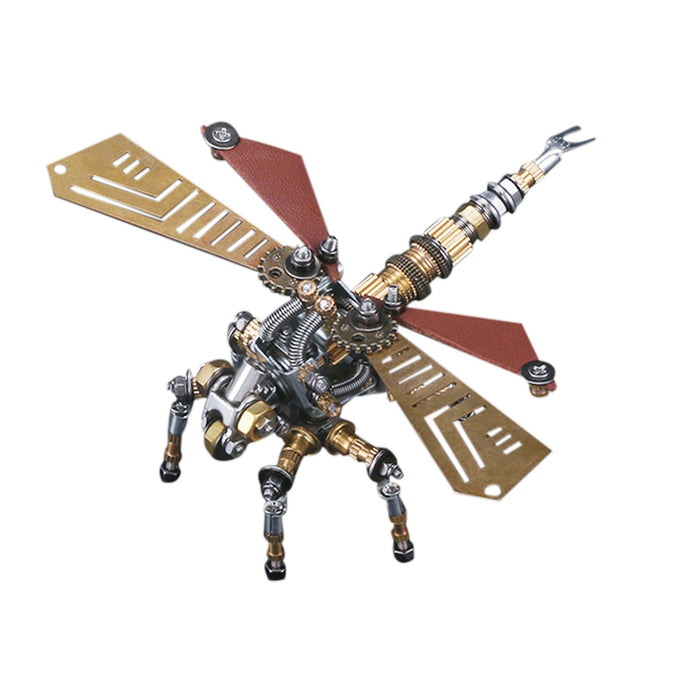 243Pcs 3D DIY Mechanical Assembly Metal Dragonfly Insect Puzzle Model Kit