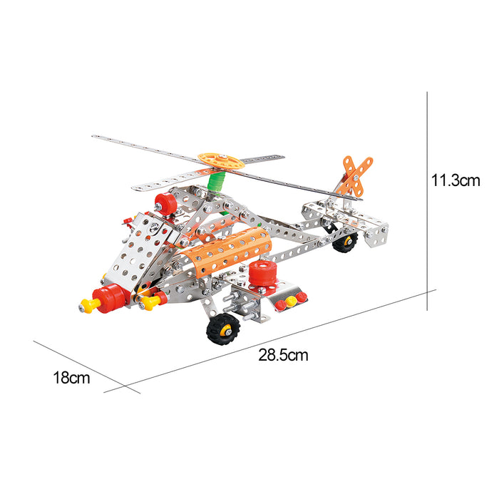 262Pcs Air Fighter Helicopter Model Building Kit STEM Education Toy for Ages 8+