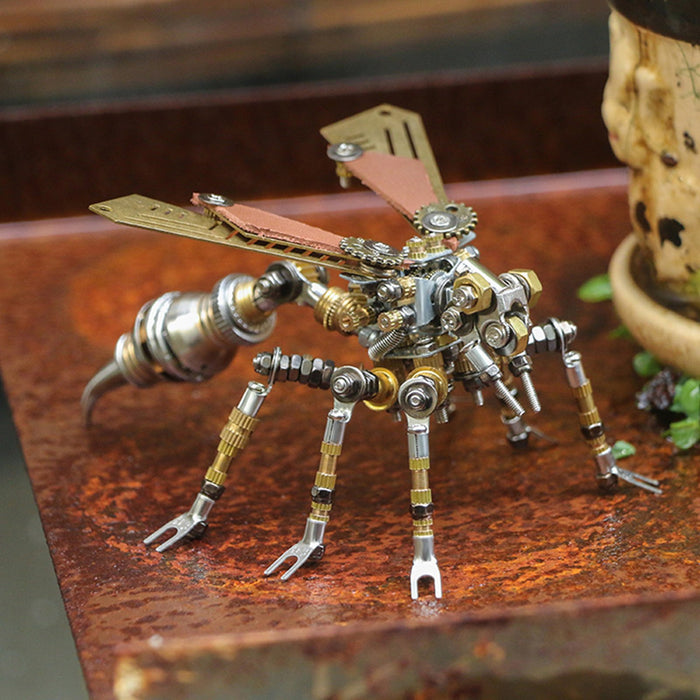 295Pcs Assembly Metal Mechanical 3D Wasp Insect Puzzle Model Adult