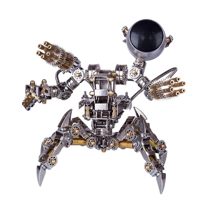 313Pcs Assembly 3D Puzzle Model Magnetic Chaser Hunter Mecha Model Bluetooth Speakers