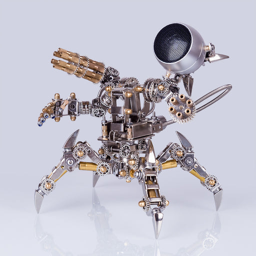 313Pcs Assembly 3D Puzzle Model Magnetic Chaser Mecha Model Bluetooth Speakers