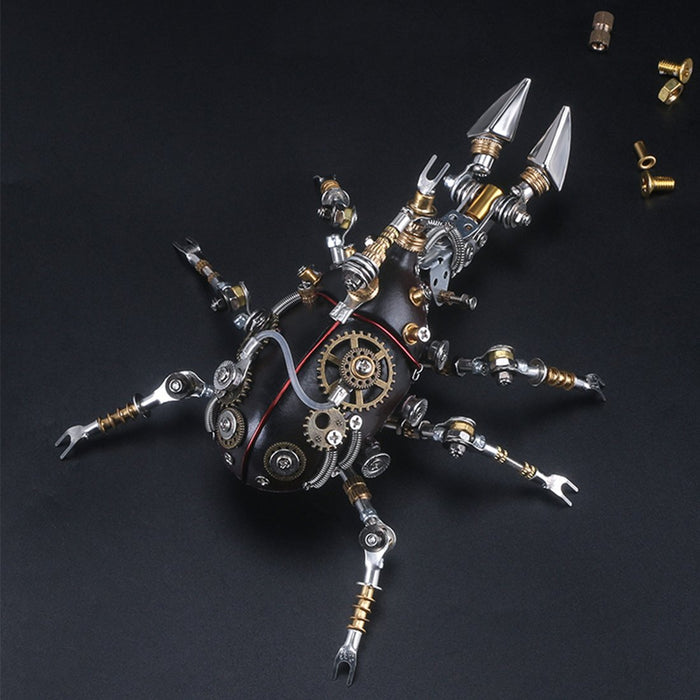 324Pcs Metal 3D DIY Mechanical Assembly Trypoxylus Dichotomus Insect Model