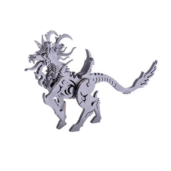 3D DIY Metal Puzzle Assembly Jigsaw Crafts Model Kit - Goat Beast/Unicorn