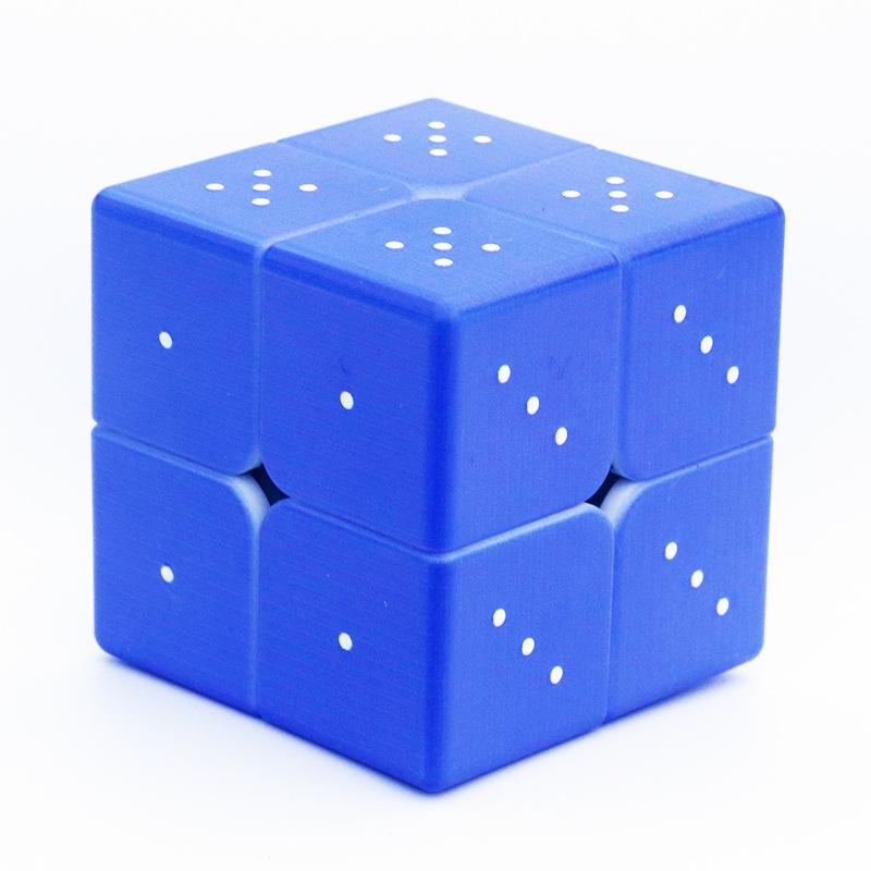 3D Embossed Braille 3x3 Blue Cube for the Blind