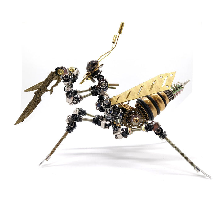 3D Metal Assembly DIY Mechanical Mantis Insect Model Puzzle kit