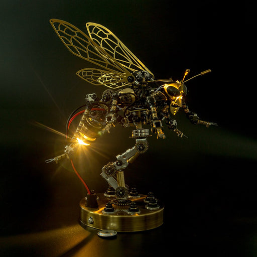 3D Metal DIY Mechanical Wasp Insects Puzzle Model Kit Assembly Jigsaw Crafts