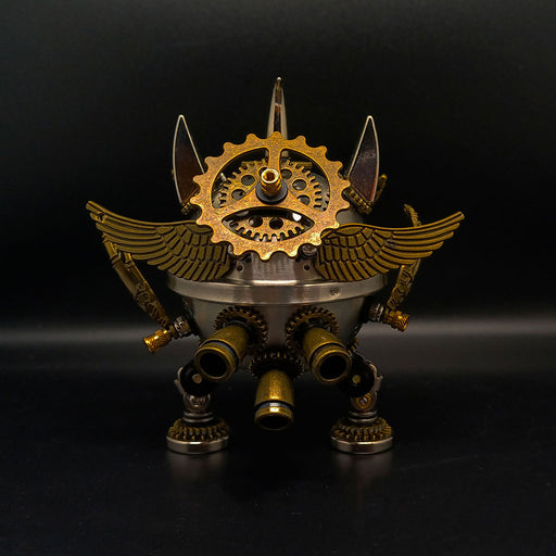 3D Steampunk Metal Little Evil Soldier Mecha With Spear Model Kit Assembly Aromatherapy box