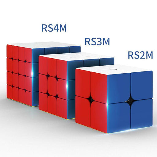 3pcs Moyu MFJS RS2M RS3M RS4M 2020 2X2 3X3 4x4 Magnetic Budget Cubes Set - Stickerless