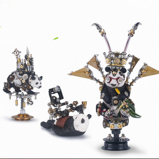 3Pcs Set DIY Metal Assembly Panda Series Model Kit for Home Collection Decor