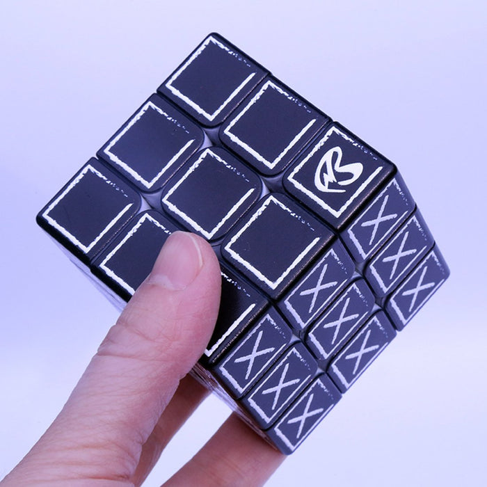 3x3 Blind Fingerprint Relief Effect Magic Cube for the Blind