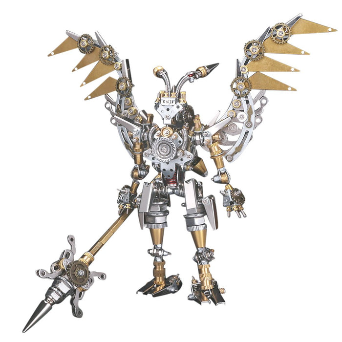 400+Pcs DIY Metal Mechanical Ancient 3D Fighting Solider Mecha Assembly Model Kit Adult