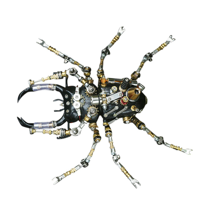 406Pcs Metal Assembly 3D Lucanidae Stag Beetle Insect Mechanical Model