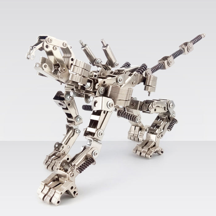 415Pcs 2in1 Metal Deformable Lion Mecha Puzzle Assembly Model Building Kit Age 14+