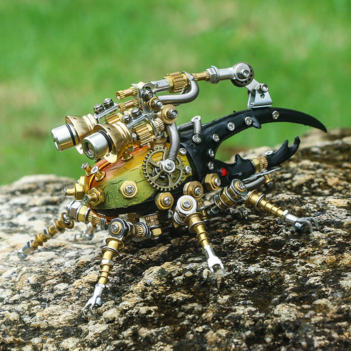 417Pcs Metal 3D DIY Mechanical Assembly Eastern Dynastes Tityus Insect Model Kit