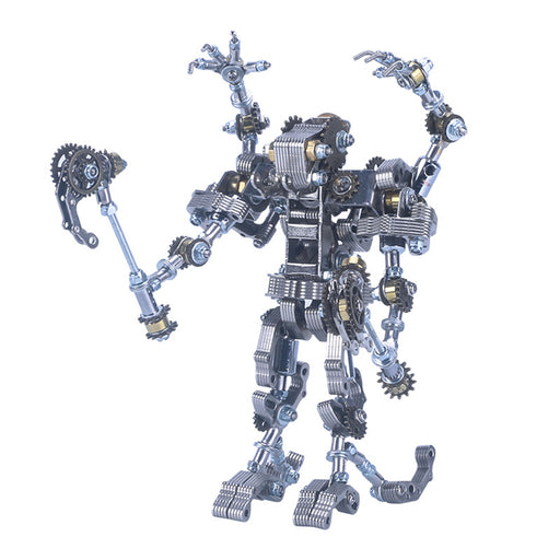 434Pcs Mecha Priest with Cog Axe DIY 3D Metal Assembly Model Kit 2-in-1 Phone Holder