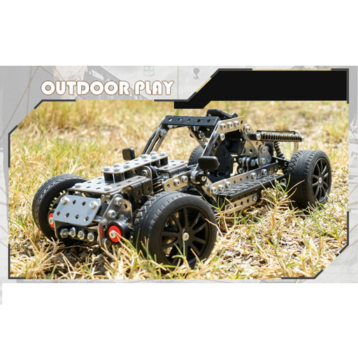 618Pcs DIY Stainless Steel Assembly Off-road Vehicle Crawler Car Toy Model Building Kit