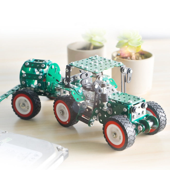 635Pcs 3D Metal Puzzle Street Sweeper Truck Assembly Model Kit