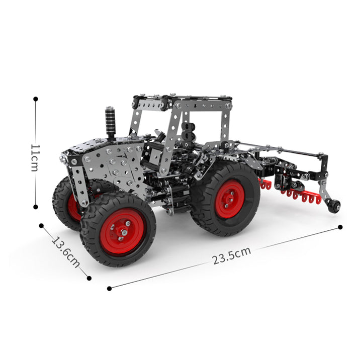692Pcs 3D Metal Farm Corn Planter Puzzle Gear-Driven Assembly Model Kit